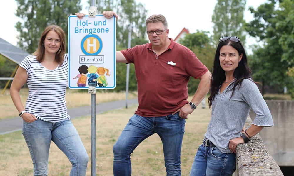 Kim Nadine Ortmeier (v. l.), Bernhard Riepe und Pia Coulthard