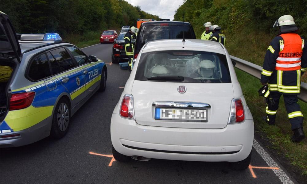 Unfallstelle am Ostring in Kirchlengern