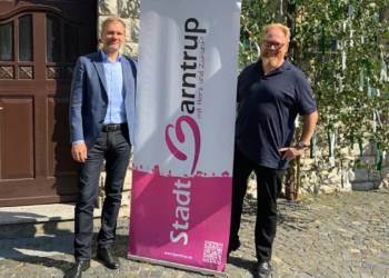 Bürgermeister Jürgen Schell und Lars Cohrs