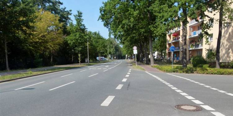 Unfallstelle an der Isenstedter Straße in Espelkamp