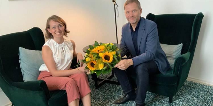 Frau Kristina Kost und Bürgermeister Jürgen Schell