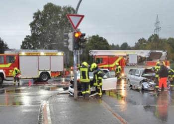 Autounfall Herford 20.10.2019