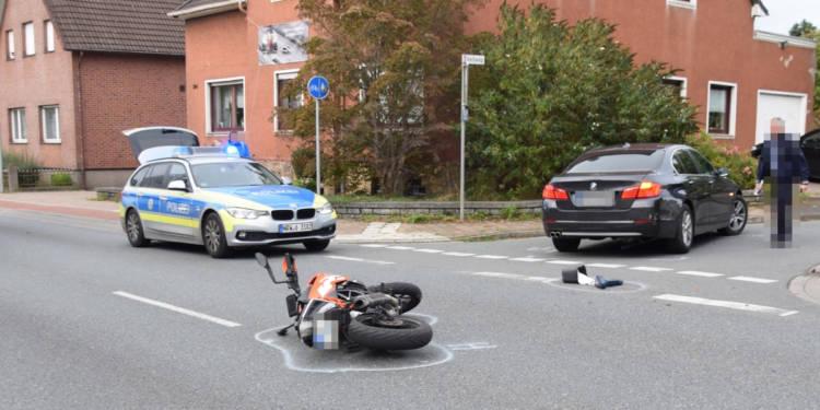 Motorradunfall Hiddenhausen 10.11.2019