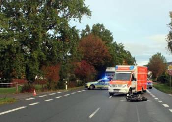 Motorradunfall Hüllhorst 18.10.2019