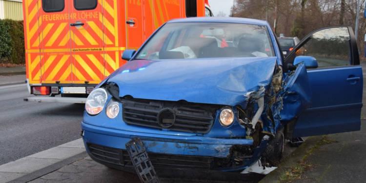 Autounfall Löhne 12.12.2019