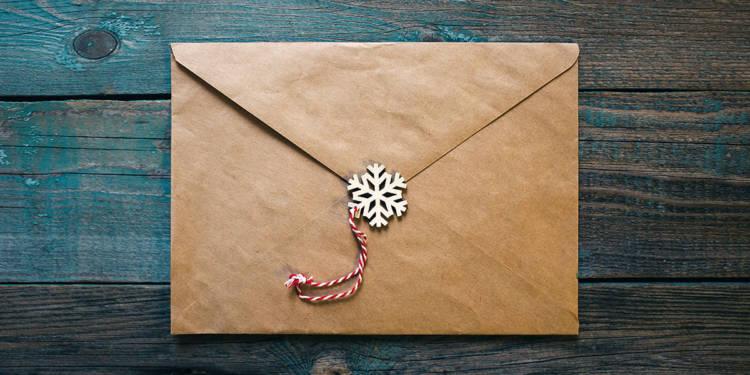 Briefumschlag Weihnachten