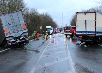 LKW-Unfall Petershagen 13.01.2020