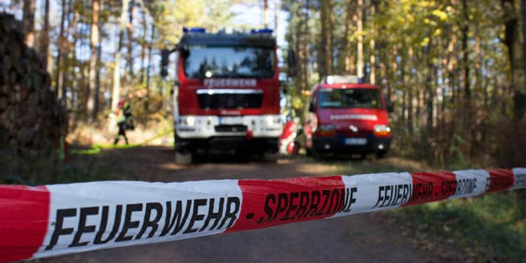Feuerwehr, Absperrung