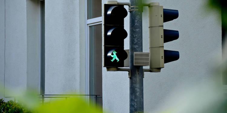 Fußgängerampel, Grün