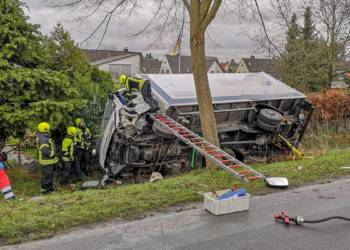 LKW-Unfall Herford 20.02.2020