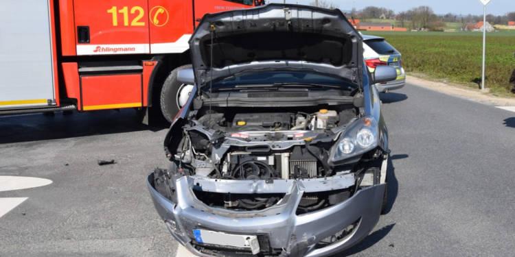 Autounfall Enger 17.03.2020