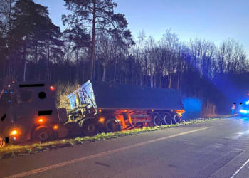 LKW-Unfall Hille 23.03.2020
