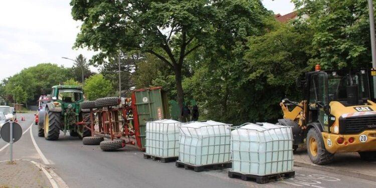 Traktor-Unfall Lage 19.05.2020
