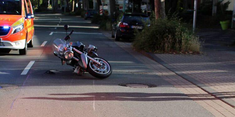 Motorrad-Unfall Bad Oeynhausen 21.06.2020
