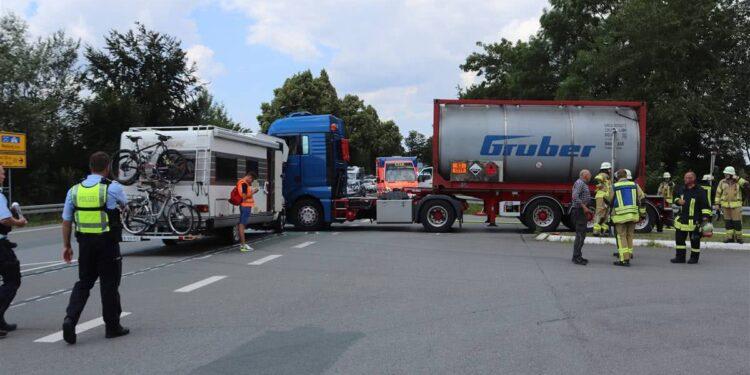 LKW-Unfall Warburg 17.07.2020
