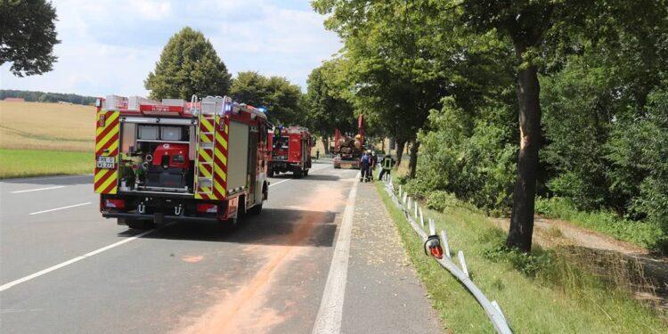 LKW-Unfall Willebadessen 18.07.2020