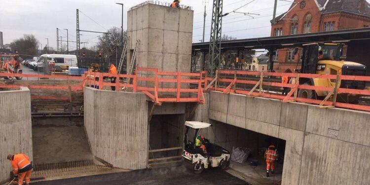 Baustelle Bahnhof Detmold